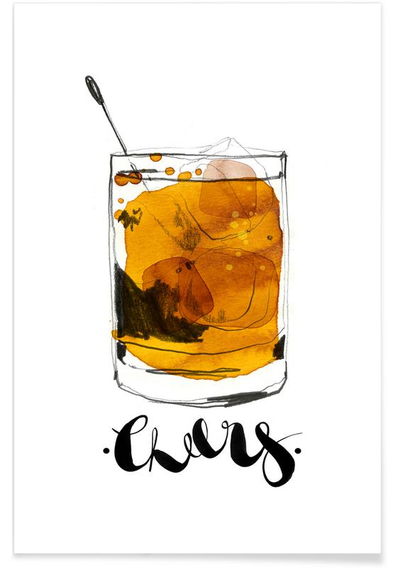 Cocktails, Whiskey, Cheers Poster