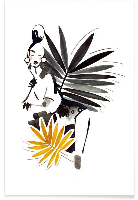 Feuilles & Plantes, Miss Palmé affiche