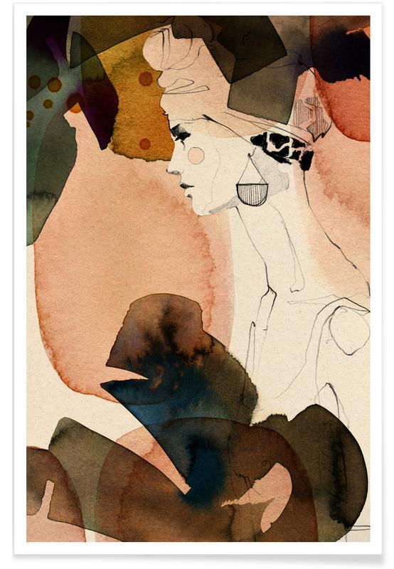 Modeillustration, Mora -Poster