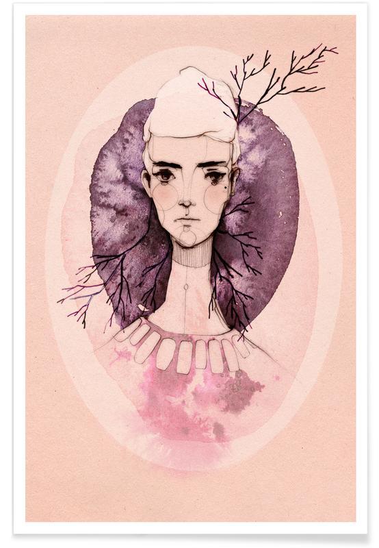 Portraits, Lilac Poster
