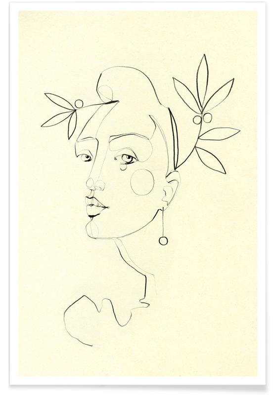 Portraits, Black & White, Sophia Poster