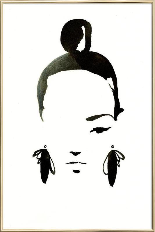 Face Nr. 1 Poster in Aluminium Frame