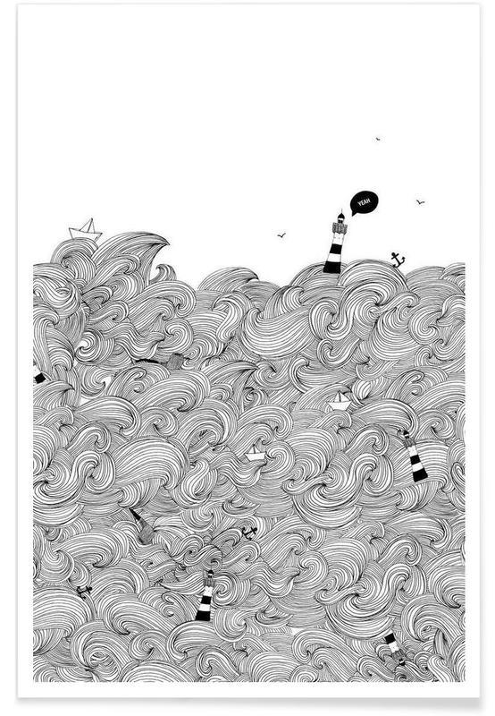 Kunst voor kinderen, Oceanen, zeeën en meren, Ocean poster
