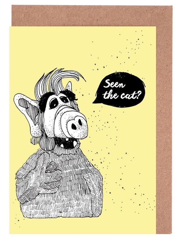 Humour, Séries TV, Seen The Cat? cartes de vœux