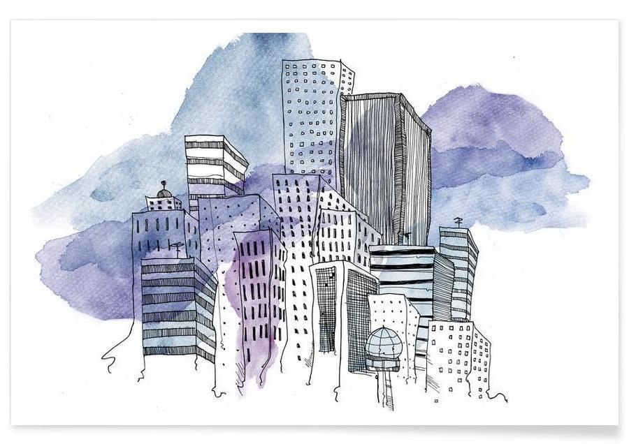 Skylines, Wolkenkratzer & Hochhäuser, City -Poster