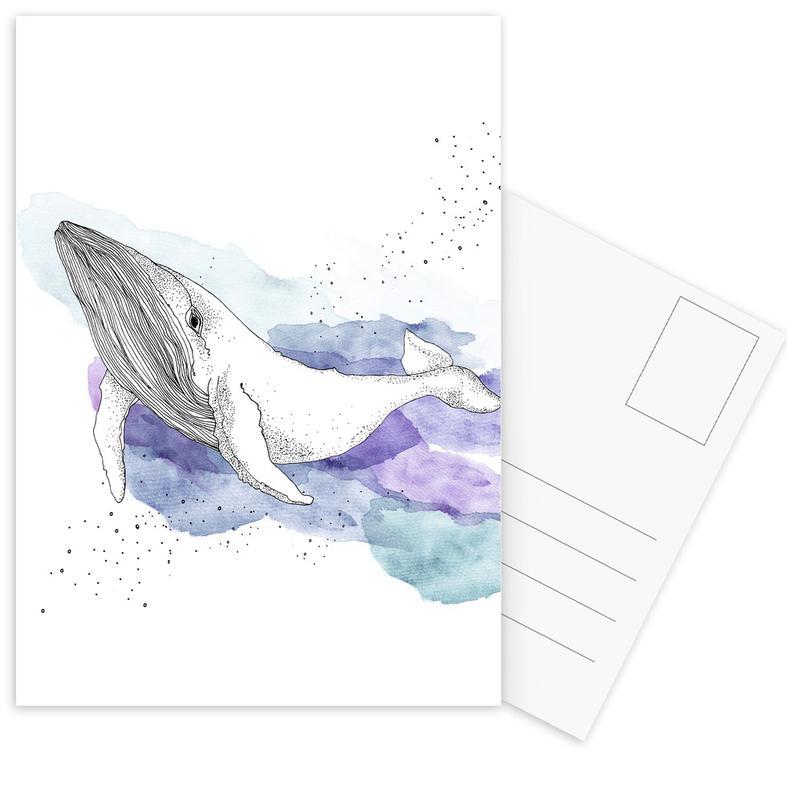 Whale -Postkartenset
