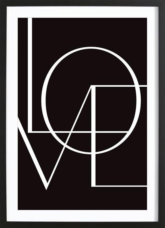 Love Poster i träram