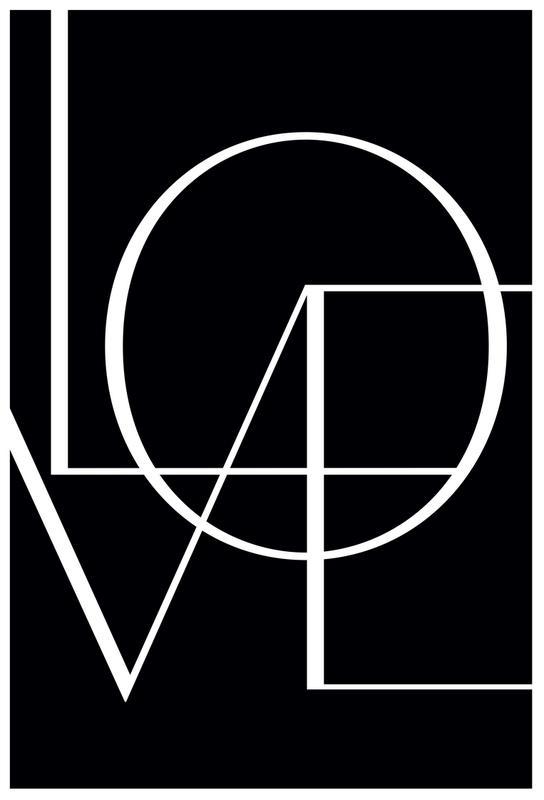 Love -Acrylglasbild