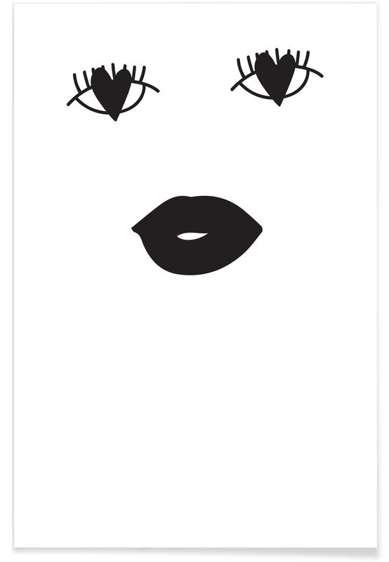 Black & White, Heart Eyes Poster