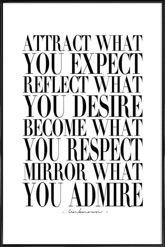 Attract What You ingelijste poster