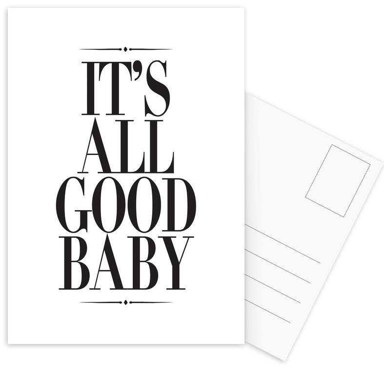 It's All Good Baby Postcard Set