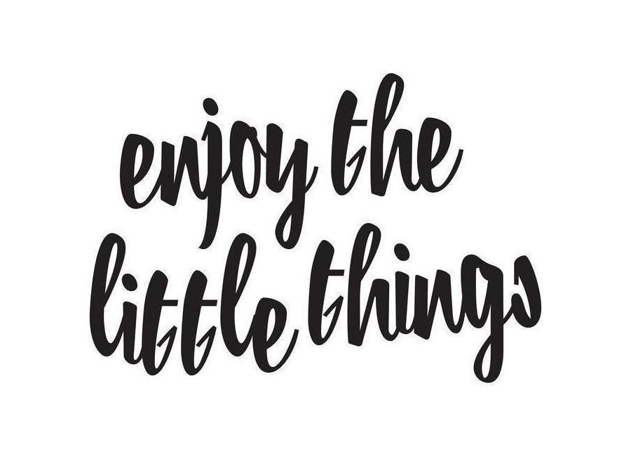 Enjoy The Little Things canvas doek