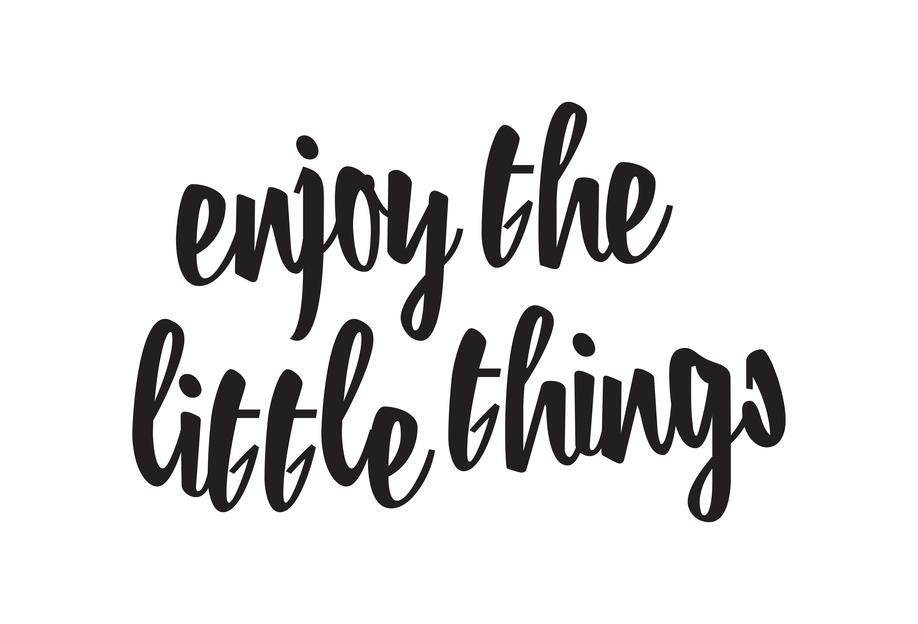 Enjoy The Little Things Aluminium Print