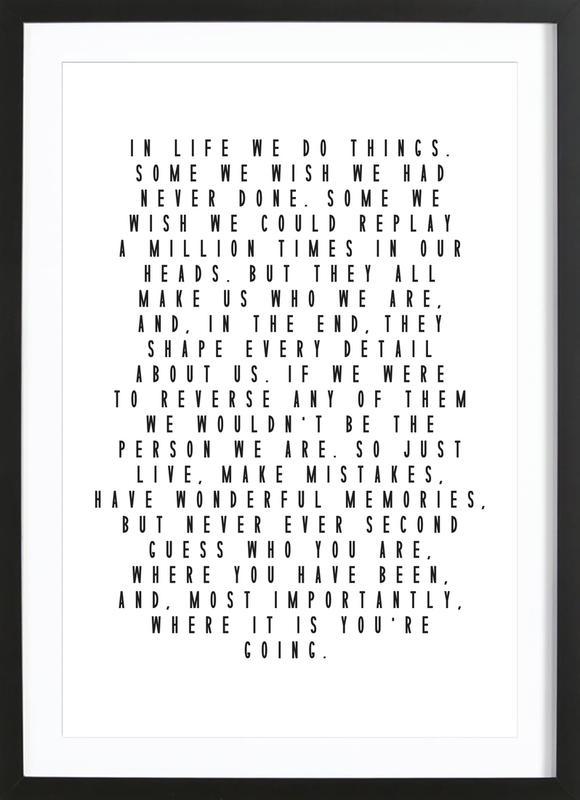 Life Is Beautiful ingelijste print