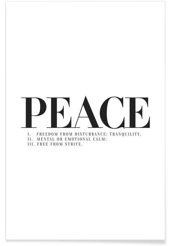 Noir & blanc, Citations et slogans, Peace affiche