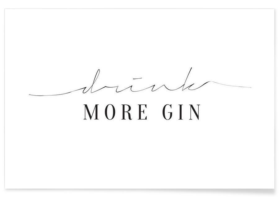 Drink More Gin Poster