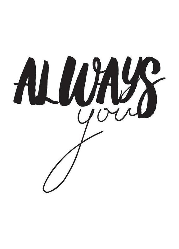 Always You canvas doek