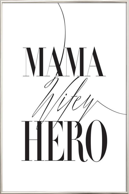 Mama Wifey Hero affiche sous cadre en aluminium