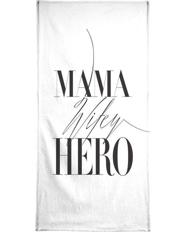 Black & White, Mother's Day, Mama Wifey Hero Bath Towel