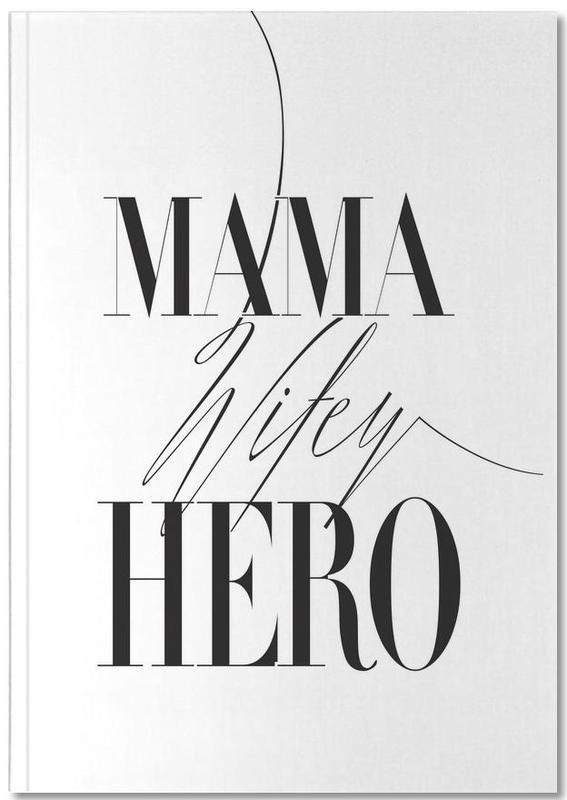 Noir & blanc, Fête des mères, Mama Wifey Hero Notebook