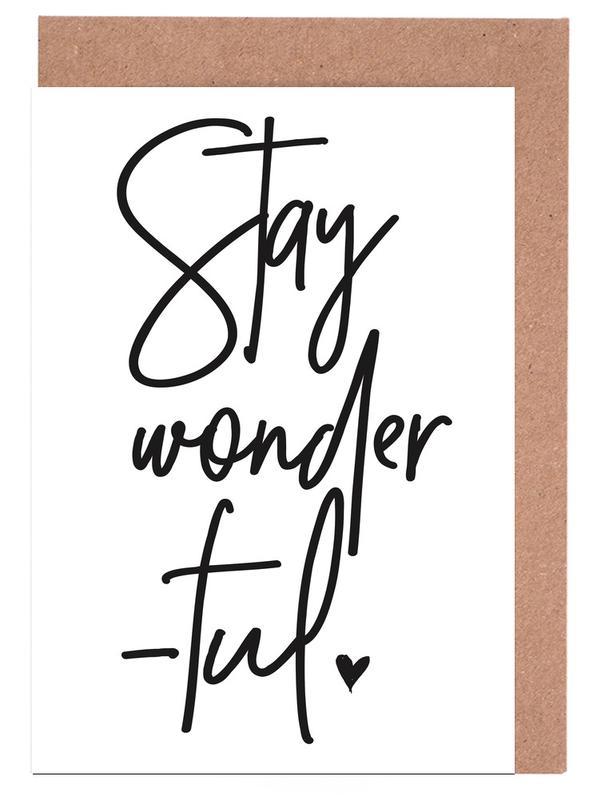 Stay Wonderful -Grußkarten-Set