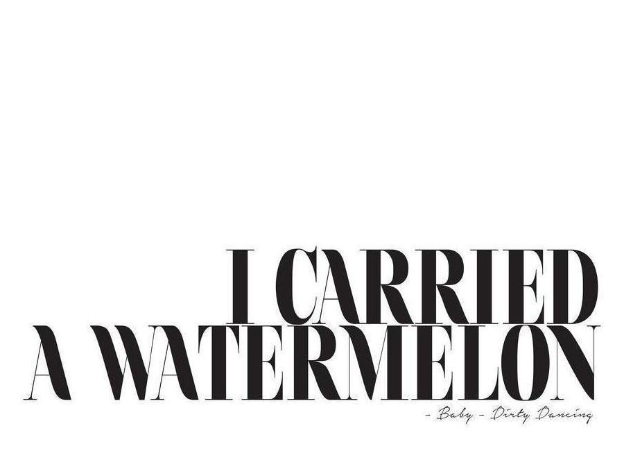 I Carried A Watermelon Canvastavla