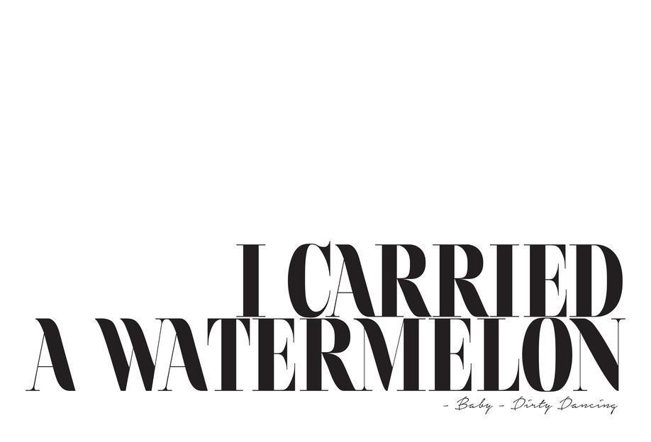 I Carried A Watermelon -Acrylglasbild