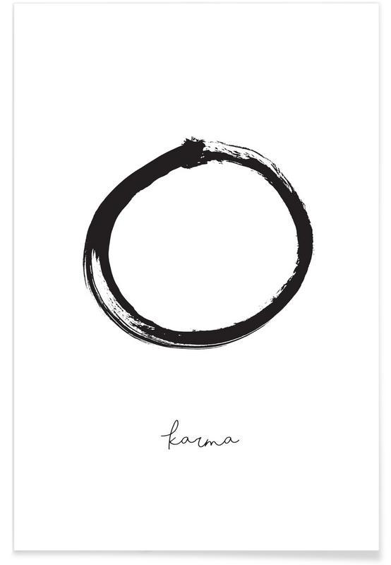 Citater & sloganer, Undskyldninger, Sort & hvidt, Karma Plakat