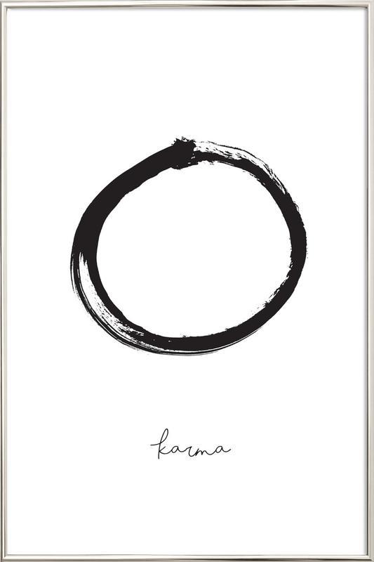 Karma Poster in Aluminium Frame