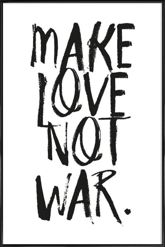 Make Love ingelijste poster