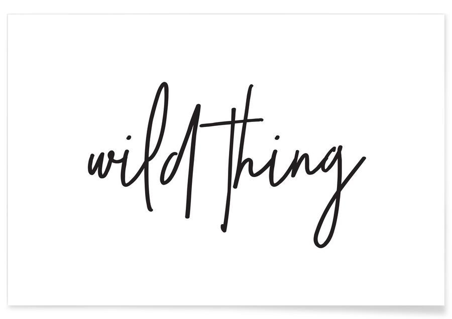 Noir & blanc, Wild Thing affiche