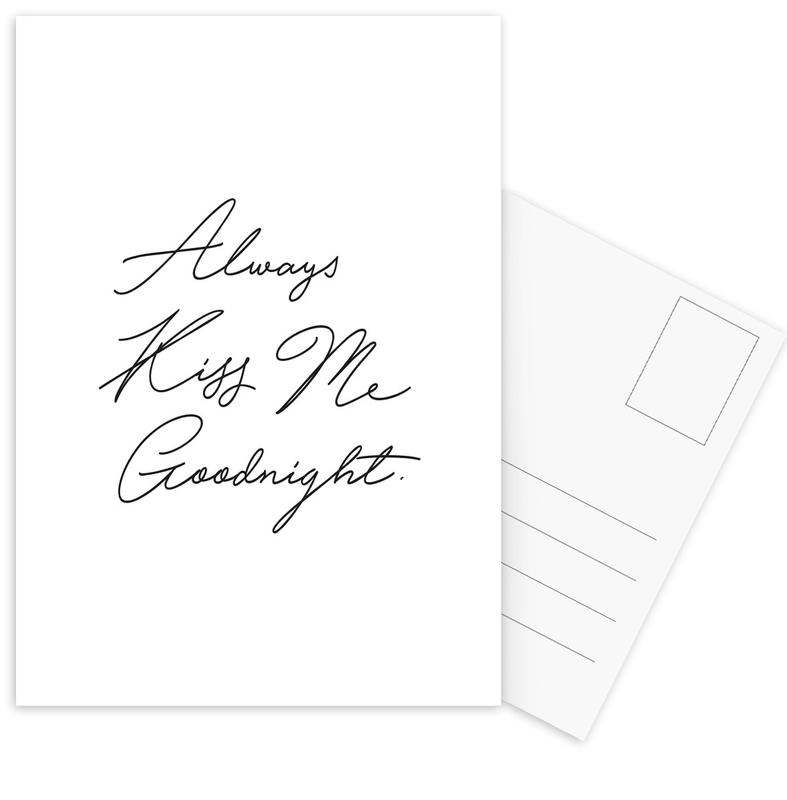 Always Kiss Me Goodnight Postcard Set