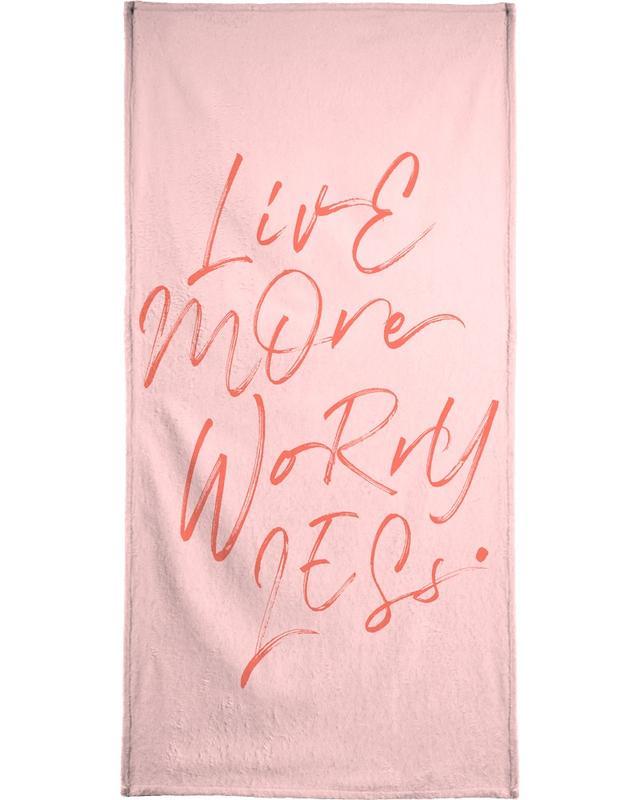 Quotes & Slogans, Live More Beach Towel