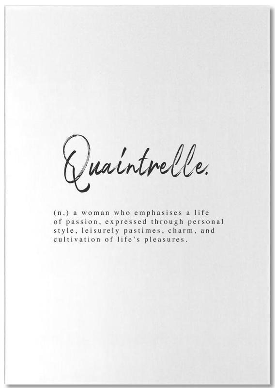 Quaintrelle -Notizblock