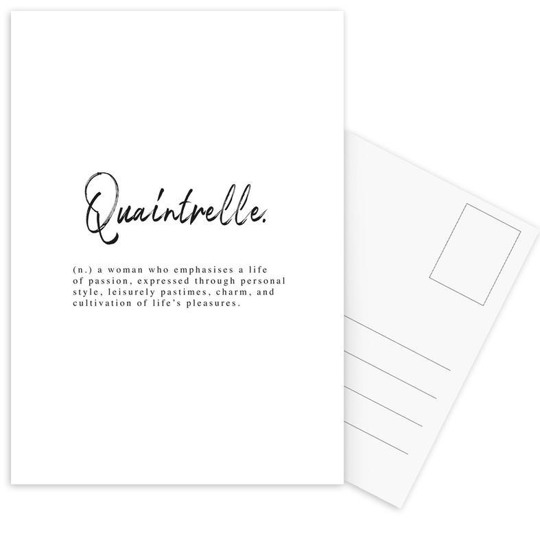 Quaintrelle -Postkartenset