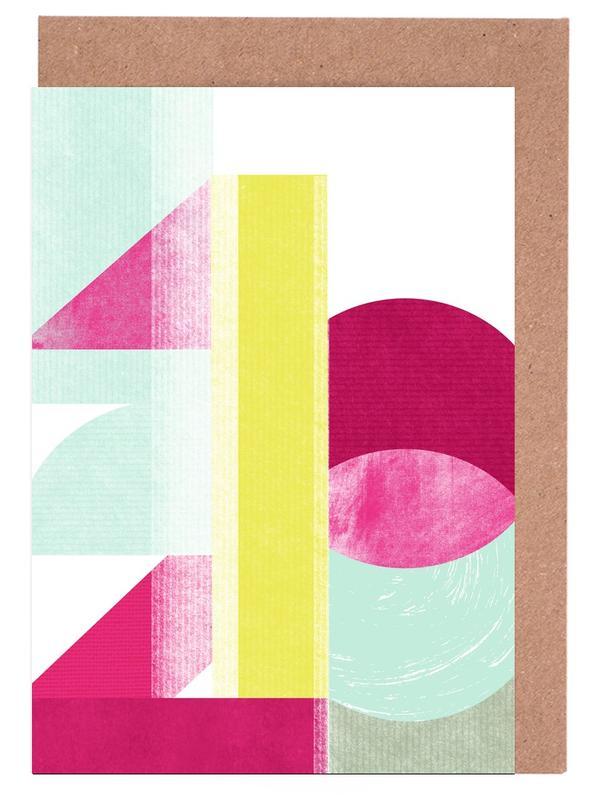 Zahlen, 1,2,3 -Grußkarten-Set