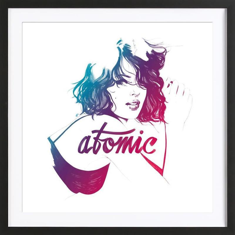 Atomic -Bild mit Holzrahmen