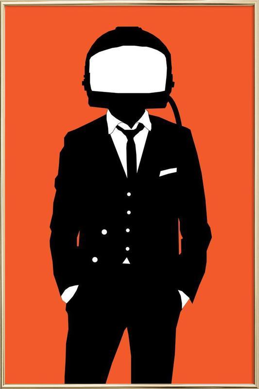 Spacesuit -Poster im Alurahmen