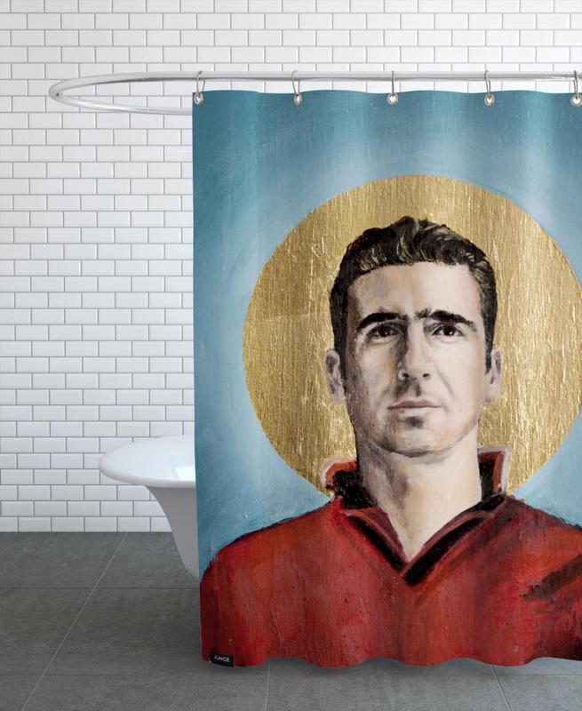 Football Icon - Eric Cantona Shower Curtain