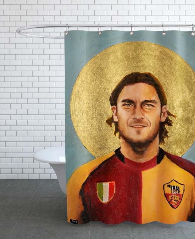 Football, Football Icon - Totti Shower Curtain