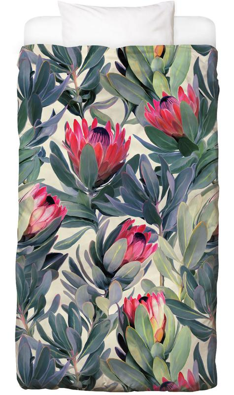 Painted Protea Pattern Bed Linen
