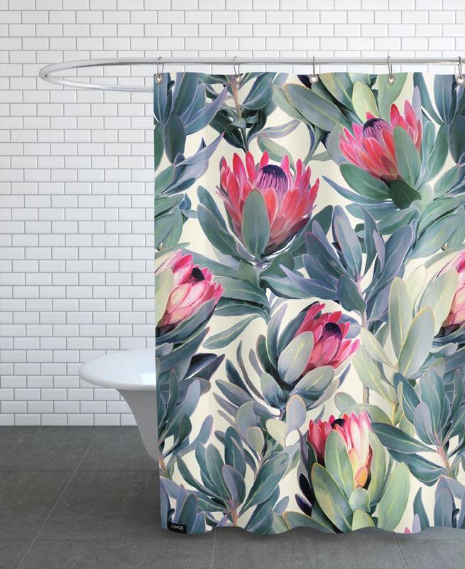 Painted Protea Pattern -Duschvorhang