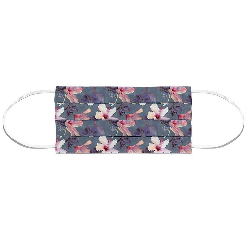 Butterflies & Hibiscus Flowers Masque barrière en tissu