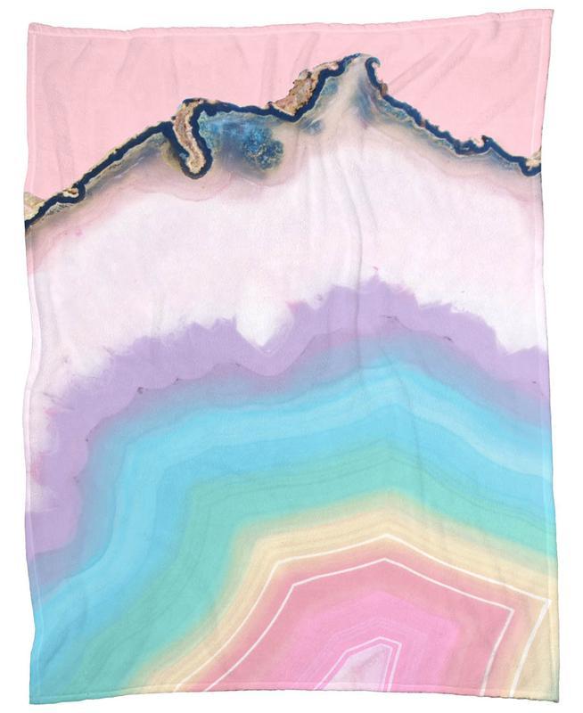 Rainbow Agate -Fleecedecke