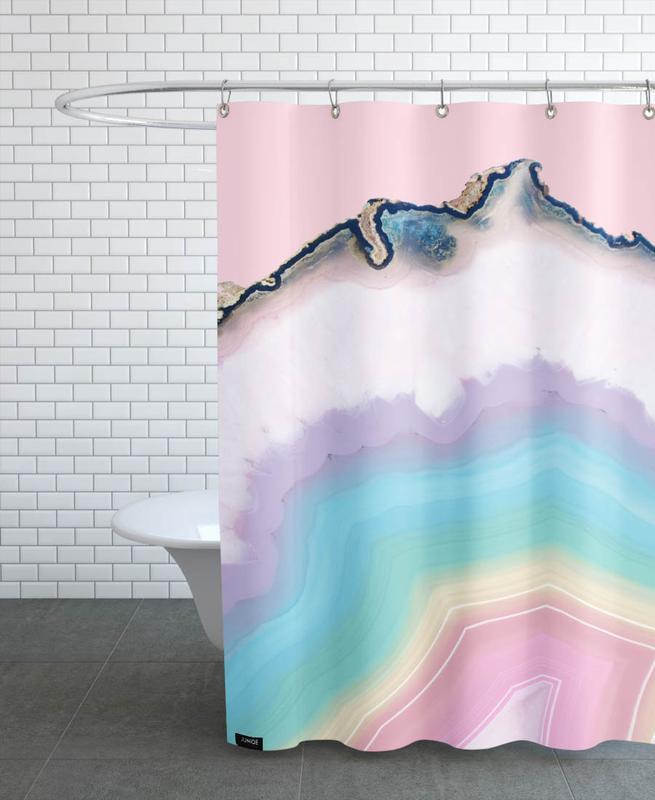 Rainbow Agate -Duschvorhang