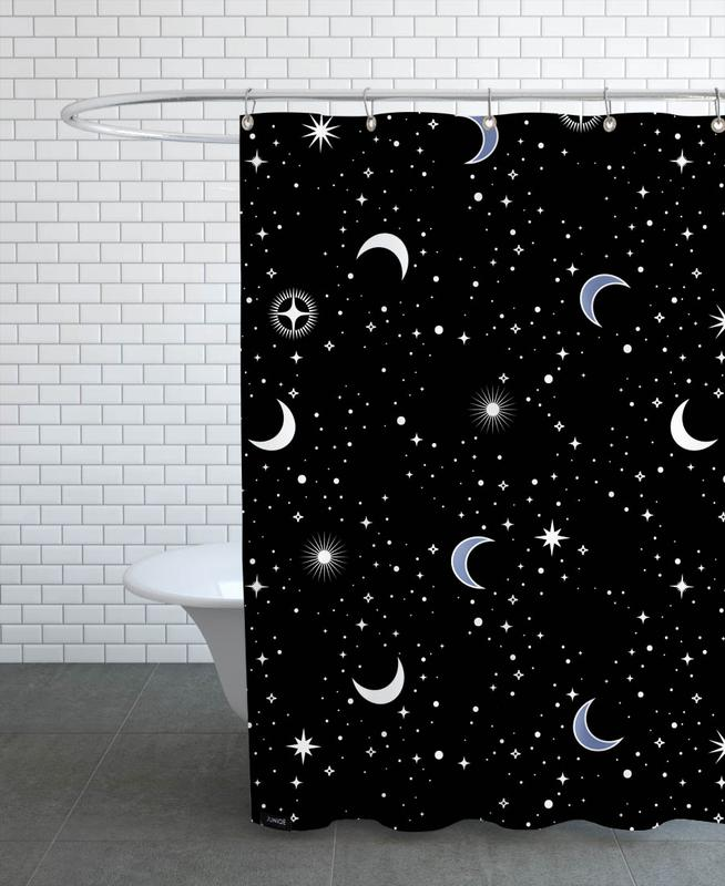 Stars Holiday Shower Curtain