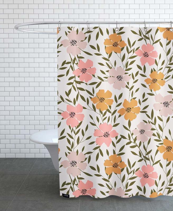 Muster, 70's Floral -Duschvorhang