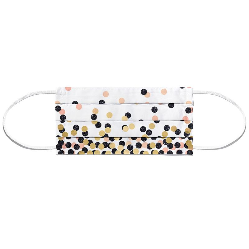 Polka Dots Masque barrière en tissu