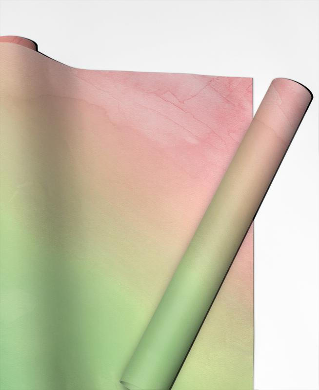 Greenely and Rose Quartz Prints Gift Wrap