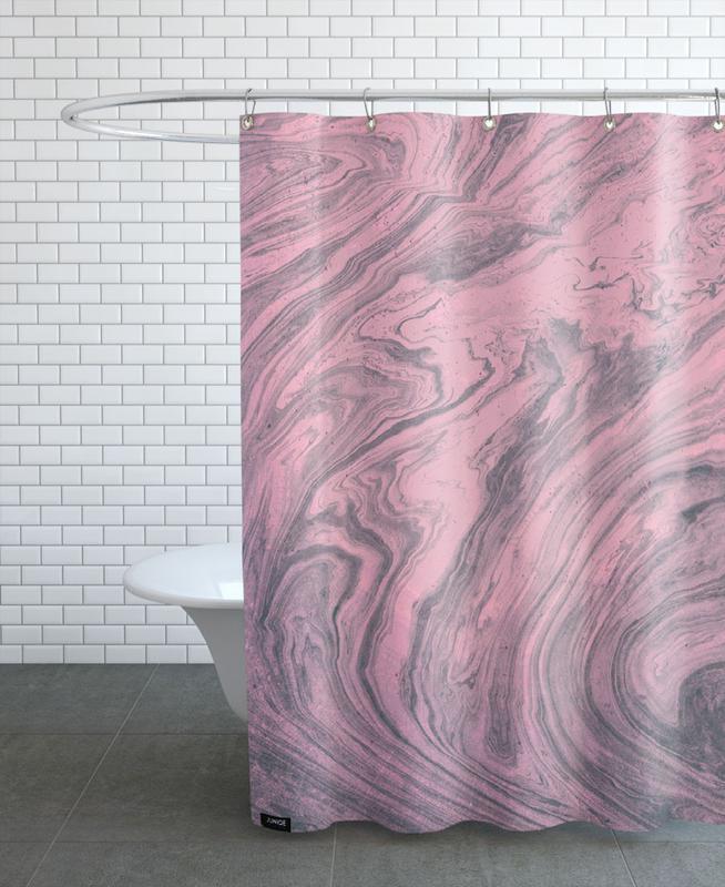 Pink Marbled Texture rideau de douche
